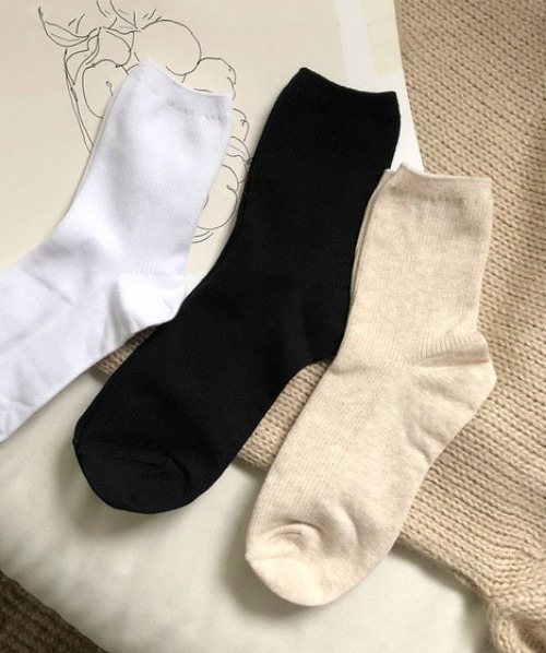 nov cotton socks (3color)