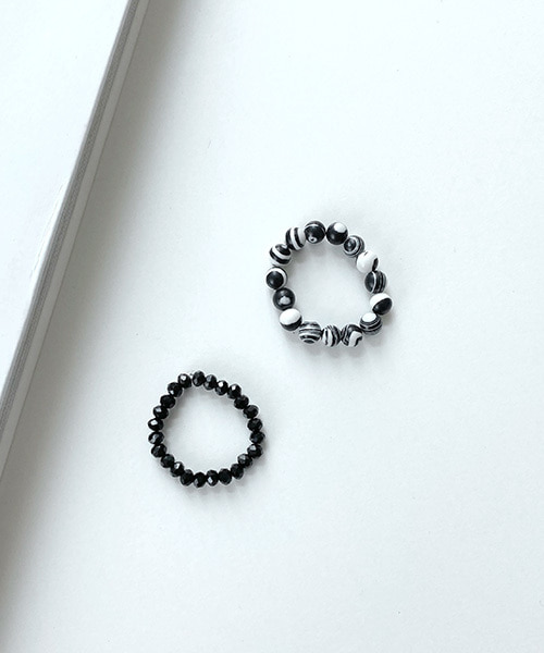 chic beads rings (set)